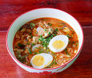 Seafood noodles. royalty free stock image