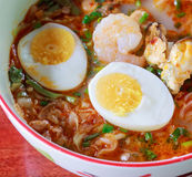 Seafood noodles. stock photography