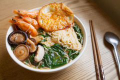 Seafood noodles Stock Photography