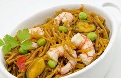 Seafood Noodles Stock Photos