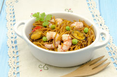 Seafood Noodles Stock Images