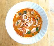 Seafood noodles. Thai spicy food royalty free stock photos