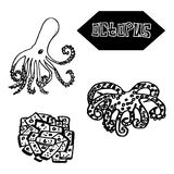 Seafood octopus Japanese and Spanish cuisine Royalty Free Stock Photography