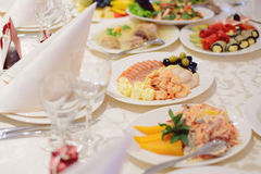 Seafood with Olives and Lemons Royalty Free Stock Image
