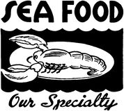 Seafood Our Specialty 2 Royalty Free Stock Photo