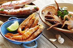 Seafood outdoors Stock Photo