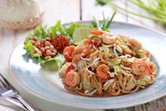Seafood pad thai Stock Photo