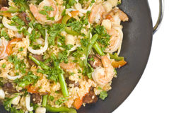 Seafood Paella Royalty Free Stock Photography