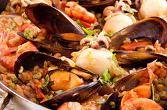 Seafood Paella Stock Photos
