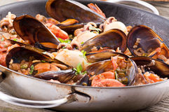 Seafood Paella Royalty Free Stock Images