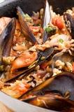 Seafood Paella Royalty Free Stock Photo