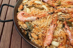 Seafood Paella. Typical dish of Spain Royalty Free Stock Photo