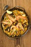 Seafood Paella Royalty Free Stock Photos
