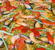 Seafood Paella Stock Images