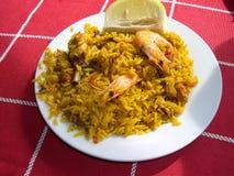 Seafood paella in Nerja Spain Stock Image