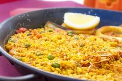 Seafood Paella Stock Image