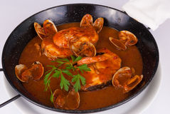 Seafood pan Stock Photo