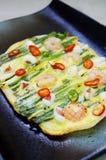 Seafood Pancake haemul pajeon. Korean Food Stock Photo