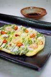 Seafood Pancake Haemul Pajeon. Korean Food, Korean Dish Royalty Free Stock Photography