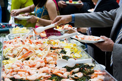 Seafood Party Platter Royalty Free Stock Photos
