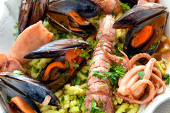 Seafood And Passatelli Stock Images