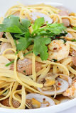 Seafood Pasta Stock Photography