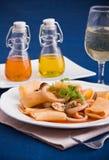 Seafood pasta. Royalty Free Stock Image