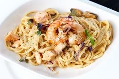 Free Seafood Pasta Stock Photos - 38496903