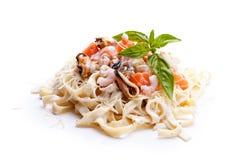 Seafood Pasta Stock Photos