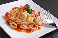 Seafood pasta Royalty Free Stock Photos