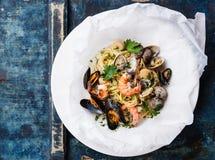 Free Seafood Pasta Royalty Free Stock Image - 54631836
