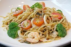 Seafood pasta Royalty Free Stock Photography