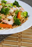 Seafood pasta close up Royalty Free Stock Photography