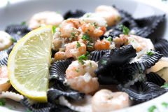 Seafood pasta dish Stock Photo