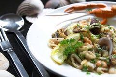 Seafood pasta dish Royalty Free Stock Photo