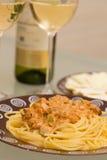 Seafood pasta dish Royalty Free Stock Image