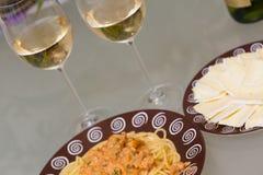Seafood pasta dish Stock Photography