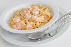 Seafood pasta stock photos