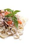 Seafood pasta Stock Photography