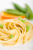 Seafood Pasta with Peas Stock Photo