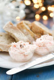 Seafood pate with bread Stock Images