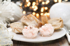 Seafood pate with bread Royalty Free Stock Photography