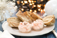 Seafood pate with bread Stock Image