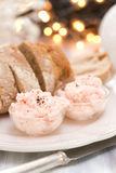Seafood pate with bread Royalty Free Stock Photos