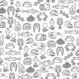 Seafood pattern stock illustration