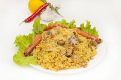 Seafood pilaf Stock Photo
