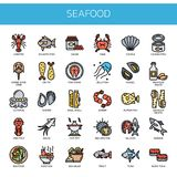 Seafood , Pixel Perfect Icons Stock Images