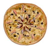 Seafood pizza. Stock Photo