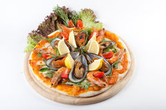 Seafood pizza Royalty Free Stock Photo