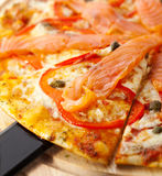 Seafood Pizza Royalty Free Stock Photography